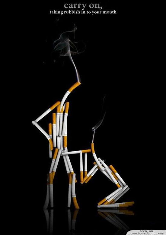 iklan kreatif anti rokok yang dapat membuat anda berhenti merokok buanglah sampah ini kedalam mulutmu 40 iklan kreatif Anti Rokok yang dapat membuat anda berhenti merokok
