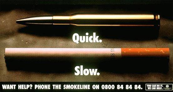 iklan kreatif anti rokok yang dapat membuat anda berhenti merokok cepat vs lambat 40 iklan kreatif Anti Rokok yang dapat membuat anda berhenti merokok