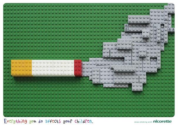 iklan kreatif anti rokok yang dapat membuat anda berhenti merokok lego 40 iklan kreatif Anti Rokok yang dapat membuat anda berhenti merokok