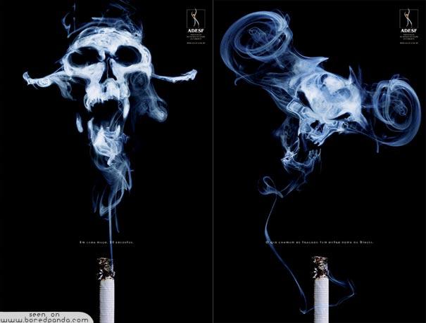 iklan kreatif anti rokok yang dapat membuat anda berhenti merokok malaikat kematian 40 iklan kreatif Anti Rokok yang dapat membuat anda berhenti merokok