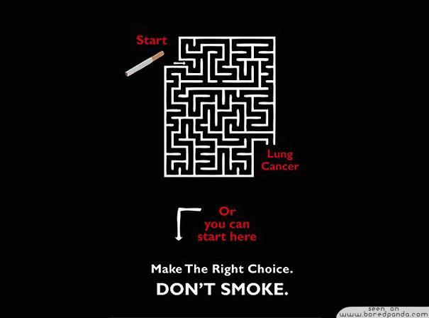 iklan kreatif anti rokok yang dapat membuat anda berhenti merokok membingungkan 40 iklan kreatif Anti Rokok yang dapat membuat anda berhenti merokok
