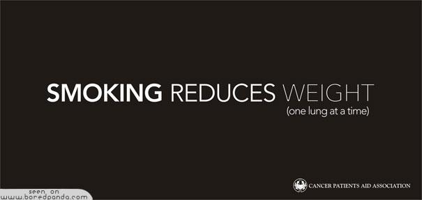 iklan kreatif anti rokok yang dapat membuat anda berhenti merokok mengurangi berat badan 40 iklan kreatif Anti Rokok yang dapat membuat anda berhenti merokok
