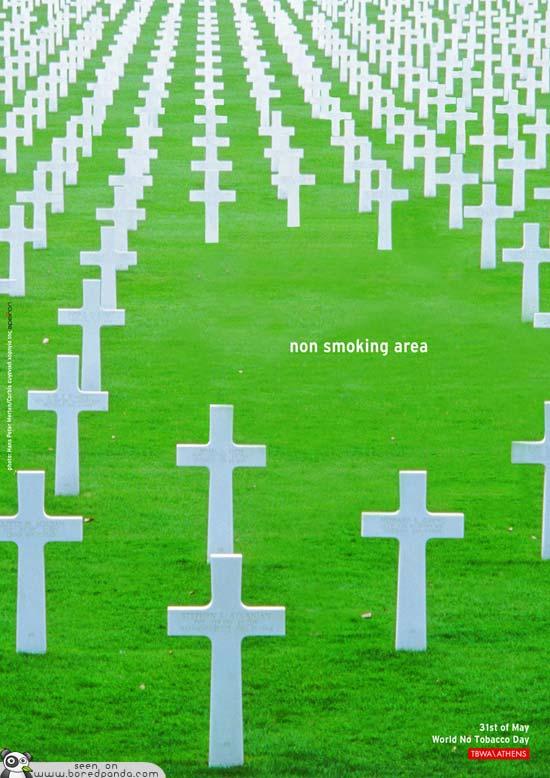 iklan kreatif anti rokok yang dapat membuat anda berhenti merokok non smoking area 40 iklan kreatif Anti Rokok yang dapat membuat anda berhenti merokok