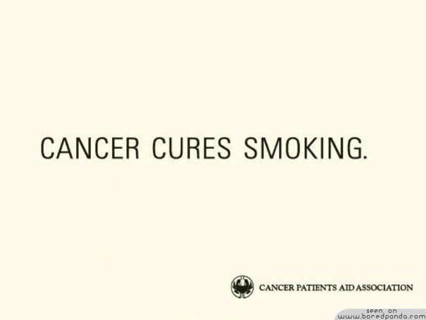 iklan kreatif anti rokok yang dapat membuat anda berhenti merokok obat kanker 40 iklan kreatif Anti Rokok yang dapat membuat anda berhenti merokok