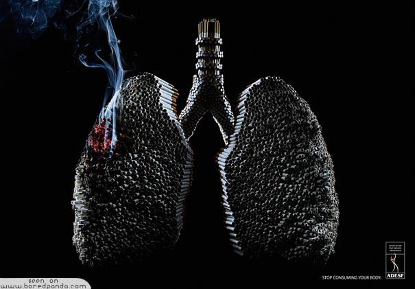 iklan kreatif anti rokok yang dapat membuat anda berhenti merokok paru paru 40 iklan kreatif Anti Rokok yang dapat membuat anda berhenti merokok