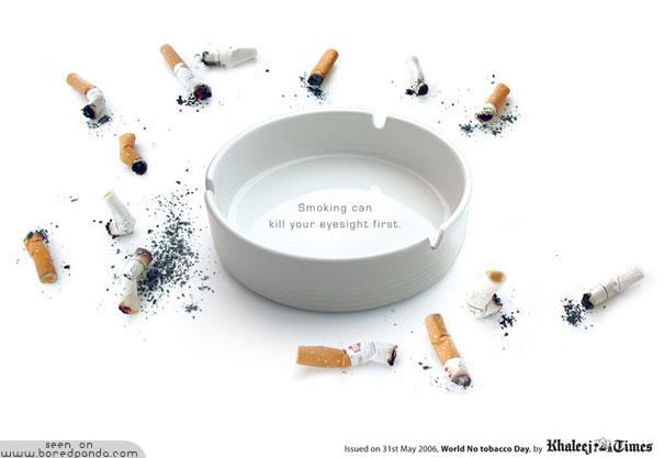 iklan kreatif anti rokok yang dapat membuat anda berhenti merokok penglihatan 40 iklan kreatif Anti Rokok yang dapat membuat anda berhenti merokok