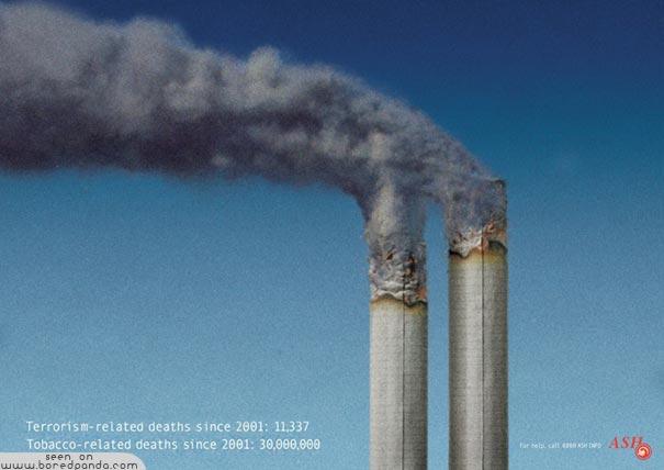iklan kreatif anti rokok yang dapat membuat anda berhenti merokok terorisme 40 iklan kreatif Anti Rokok yang dapat membuat anda berhenti merokok